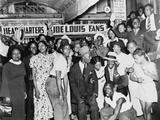 Joe Louis Fans Celebrate Louis' Victory over Tom Farr  Harlem  August 30  1937