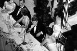 Jackie Kennedy Talks with President Kennedy at America's Cup Dinner  Sept 1962