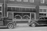 Separate Café Entrances for Whites and Colored in Durham  North Carolina  1940