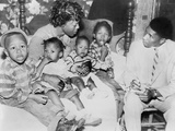 Bulah Melton  Widow in Racist Murder Talks with NAACP's Medgar Evers  Dec 3  1955