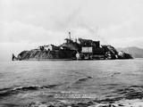 The Rock' United States Penitentiary on Alcatraz Island in San Francisco Bay California  Ca 1940s