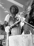 African American Worker at the TVA's Douglas Dam  June 1942