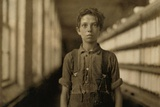 Child Laborer in Burlington  Vermont Worked in the Spinning Mule Room  May 1909