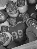 Africans American Football Huddle at Bethune-Cookman College 1943