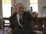 President Lyndon Johnson Gesturing During a Meeting in the Oval Office May 3  1966