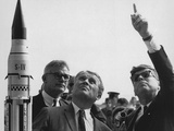Wernher Von Braun Explains the Saturn Launch System to President Kennedy  Nov 16  1963