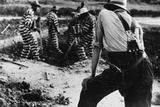 Convict Chain Gang and Prison Guard in Oglethorpe County  Georgia  May 1941