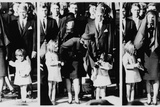 Three Image Sequence of JFK Jr Saluting at President Kennedy's Funeral  Nov  25  1963