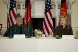 Afghan President Hamid Karzai and Hillary Clinton  May 11  2010