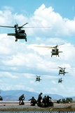 Army Rangers are Inserted by Black Hawk Helicopters into Honduras  March 1988