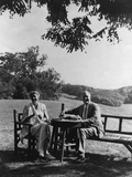 Franklin and Eleanor Roosevelt on the South Lawn at Hyde Park Ny August 16 1933