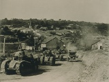 French Tanks Passing Through Rampont  France  in the Last Month of World War I
