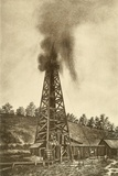 Oil Well with a Gusher in the Oil Region of Pennsylvania  Ca 1880