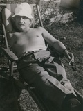 Albert Einstein Sunbathing in 1932
