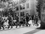 African-American Students Leaving under Military Escort  Little Rock  1957