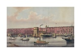 Commercial Ship Traffic in Front of a Warehouse in Red Hook  Brooklyn  1880