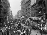 Mulberry Street in New York City's Little Italy Ca  1900