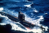 A Soviet-Built Cuban Patrol Submarine Underway  Aug 1  1986