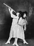 Daisy and Violet Hilton  British Born Conjoined Twins Play Clarinets  1924