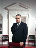 President Lyndon Johnson Official Portrait Taken by Arnold Newman in the Oval Office  Ca 1964-68