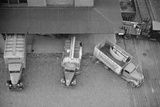 Overhead View of Trucks Loading at Warehouse  Minneapolis  1939