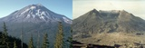 Before and after the Eruption of Mount Saint Helens on May 17  1980