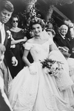 Jacqueline Bouvier Kennedy Emerging from St Mary's Church on Her Wedding Day  September 12  1953