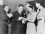 Athletes George Zaharias and Babe Didrikson Getting Married  Dec 23  1938