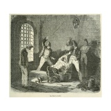 Prisoner Is Punished with a Whipping in the Brest Prison  in France  Ca 1850
