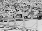 Mildred 'Babe' Didrikson  Running the 80-Meter Hurdles  at the 1932 Olympics