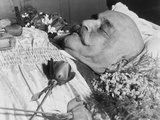 George Ivanovich Gurdjieff (1866-1949)  a Greek-Armenian Mystic  in His Coffin  October 1949