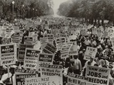 March on Washington  African Americans with Civil Rights Signs  Aug 28  1963