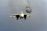 F-14 Tomcat Fighter after Takes Off from USS America  1984