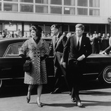 Jackie Kennedy Depart for India in Oleg Cassini Leopard Skin Coat  Mar 8  1962