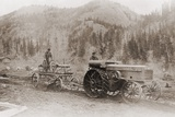Road Grader Pulled by a Steel Wheeled Tractor in Alaska's Tanana Valley in 1916