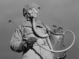World War II Era American Soldier in a Decontamination Suit  December 1942