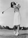 Mildred 'Babe' Didrikson Zaharias Swinging Golf Club in 1947