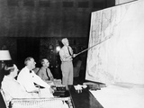 President Roosevelt Meeting with General MacArthur  Admiral Leahy  and Admiral Nimitz  August 1944