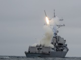 Tomahawk Cruise Missile Launch from Guided-Missile Destroyer USS Sterett  2010