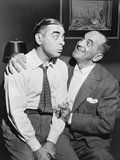 Al Jolson Right Sings to Eddie Cantor in a 1941 Rehearsal