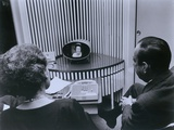 ATT Picture Phone  with Lady Bird Johnson on the Receiver in 1964