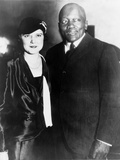 Jack Johnson  One-Time Heavyweight Champion  with His 4th Wife  Oct 7  1931