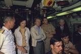 Rosalynn Carter Jimmy Carter and Admiral Hyman Rickover Aboard a Submarine  1970s