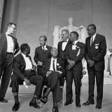 1963 March Leaders  L-R: Ahmann  Robinson  Prinz  Randolph  Rauh  Lewis  McKissick