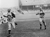 Jesse Owens Beating Baseball Player George Case in 100-Yard Dash in 1946