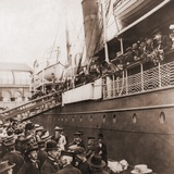 The SS Angelo Leaving Oslo  Norway  with Emigrants for America  Ca 1905
