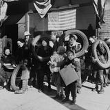Children Bringing Scrap to the Block Office of Civilian Defense Headquarters Chicago Nov  1943