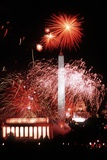 Fireworks over the US Capitol Mall for George HW Bush Inauguration  1989