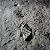 Apollo 11 Boot Print on the Moon July 20  1969