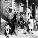 African American Steelworker with His Family in Pittsburgh  Pennsylvania  1935